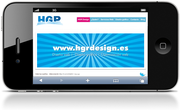 Diseño web movil con HGR Design iphone, ipad, android, windows phone