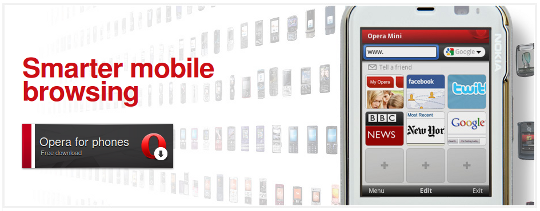 Opera Mini y Opera Mobile navegadores para moviles