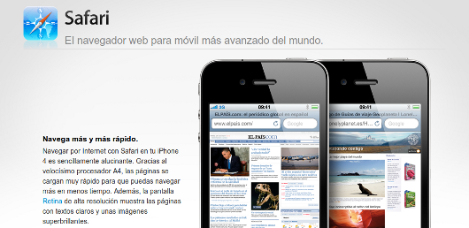Safari, navegador por defecto del iPhone